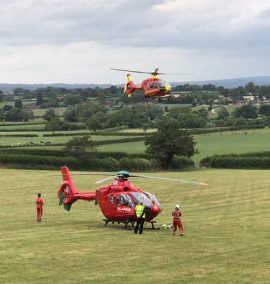 CYCLIST AIRLIFTED AFTER COLLISION WITH TRACTOR TOWING TRAILER 2