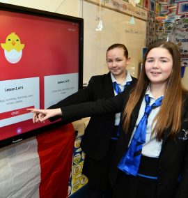 Blythe High, Pupils Millie Carter and Abigail Clutton