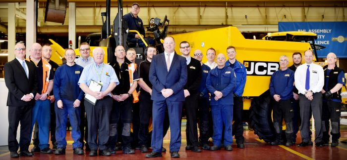 First new JCB dumpers roll off Rocester production line